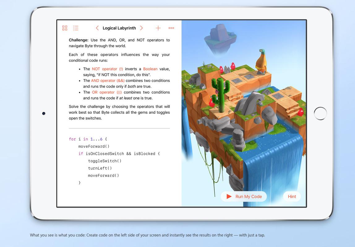 Swift Playgrounds App macht das Programmieren lernen einfach und ...